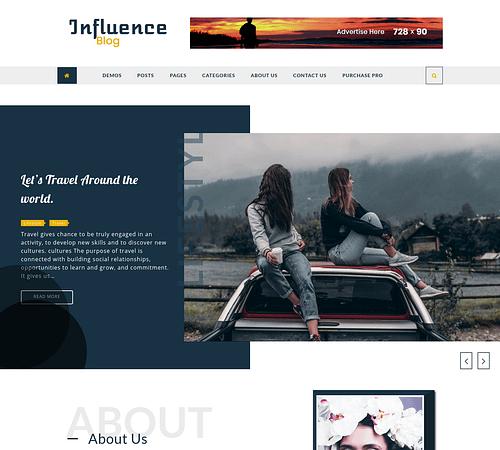 Influence Blog screenshot